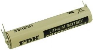 BATERIA DE LITHIUM 3V CR12600SE-FT 03 TERMINAIS SOLDA PCI FDK_SANYO (CR12600SEFT)