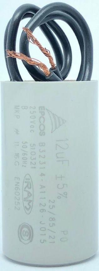 CAPACITOR PPM 12UF 250VCA B32314-A1126-J015 27X48MM FIO EPCOS (B32314A1126J015)