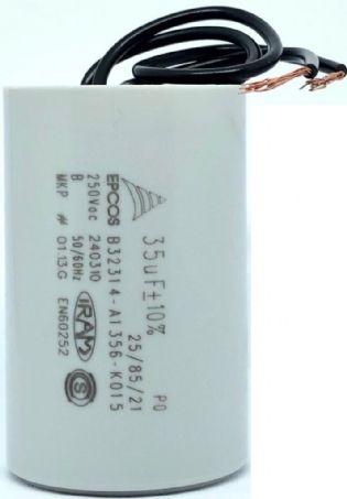 CAPACITOR PPM 35UF 250VCA B32314-A1356-K015 40X63MM FIO EPCOS (B32314A1356K015)