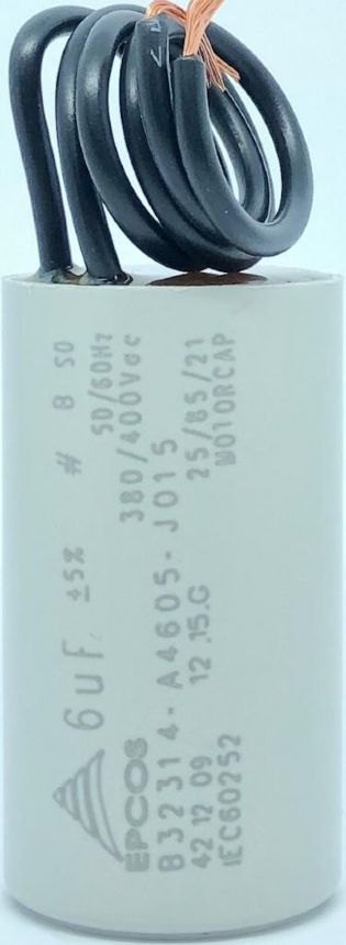 CAPACITOR PPM 6UF 250VCA B32314-A4605-J015 27X48MM FIO EPCOS (B32314A1605K015)