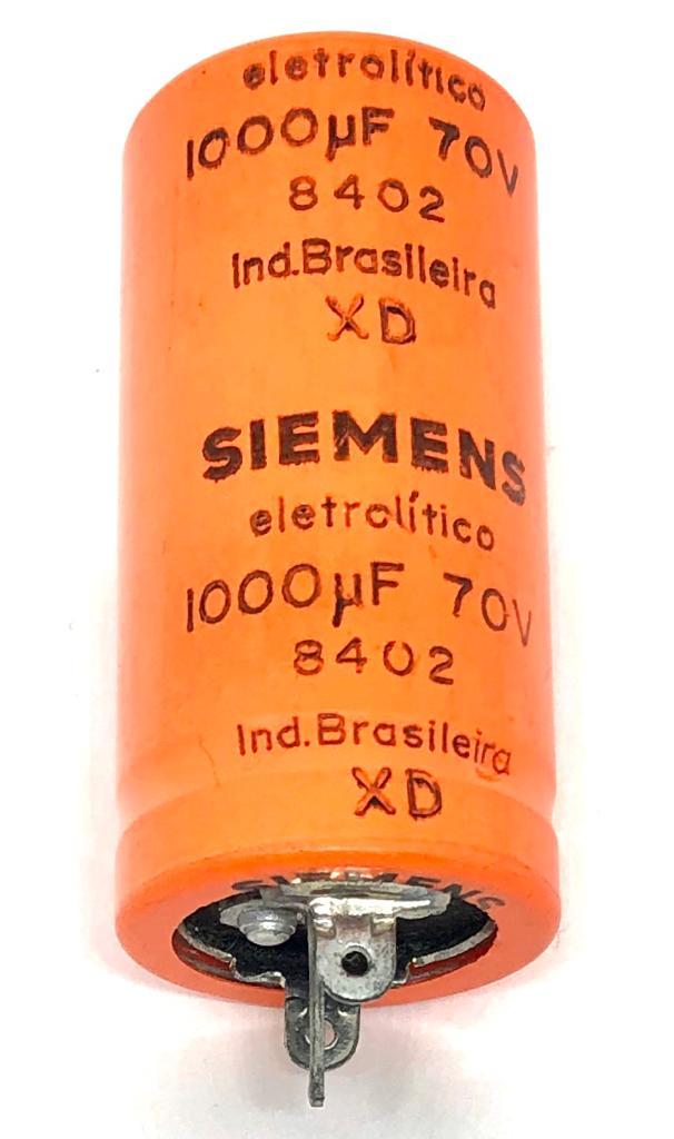 CAPACITOR ELETROLITICO 1000UF 70V RADIAL 8402 25X51MM SIEMENS
