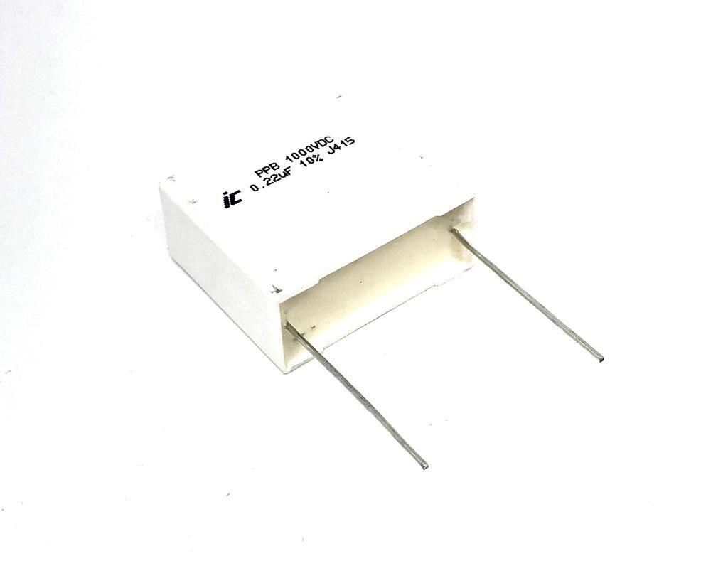CAPACITOR POLIPROPILENO 0,22UF 1000VDC 224PPB102K ILLINOIS