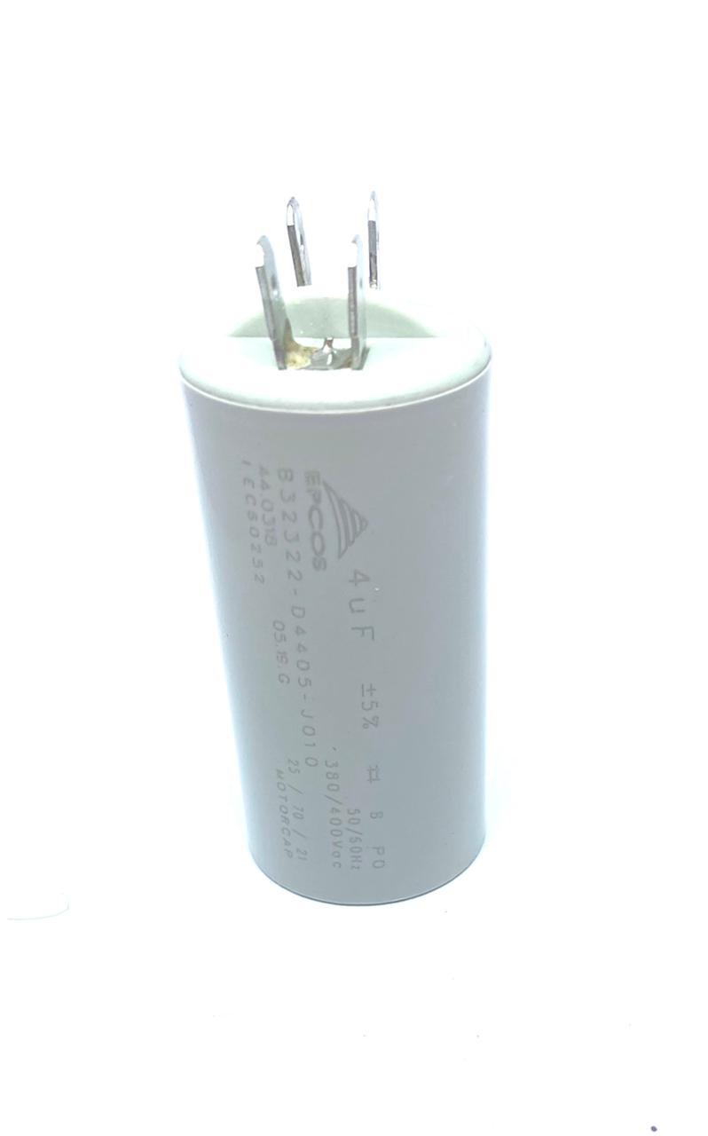 CAPACITOR PPM 4UF 380VCA/400VCA B32322-D4405-J010 31X61MM FASTON EPCOS (B32322-D4405-J010)