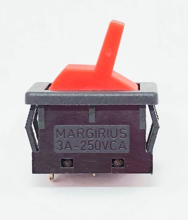 CHAVE INTERRUPTOR ALAVANCA VERMELHA LIGA-DESLIGA 13123-MF-AE-S1-S MARGIRIUS (13123MFAES1S)