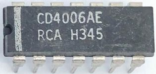 CIRCUITO INTEGRADO CD4006AE DIP 14PINOS RCA