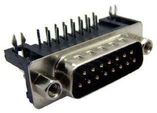 CONECTOR DB15 MACHO 90º SOLDA PCI DB15M90PCI