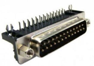 CONECTOR DB25 MACHO 90º SOLDA PCI DB25M90PCI