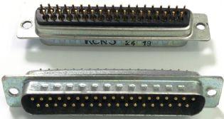 CONECTOR DB37 MACHO 180º SOLDA PCI DB37M180PCI