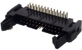 CONECTOR HEADER 10VIAS 90° COM EJETOR 10TC90