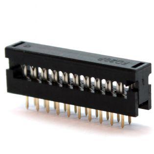 CONECTOR IDC DIP-PLUG 180º 14VIAS PASSO 2,54MM TRANSIÇÃO IDCT14