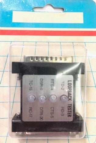 EMENDA ADAPTADOR RS232 CA146 DB25 MACHO PARA DB25 FEMEA LOOPBACK TESTER (DB25M-DB25F)