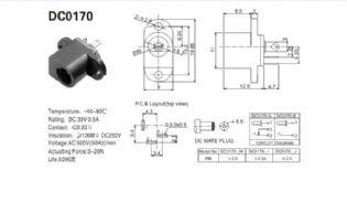 JACK J4 DC-0170H PARA PAINEL 2,1MM X 5,5MM DC0170H