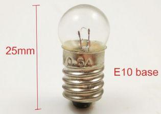 LAMPADA MINIATURA BASE E10 3,8V 0,3A 1,14W