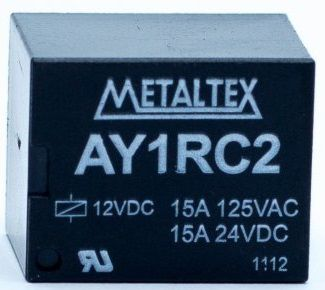 RELE AY1RC2 12VDC METALTEX