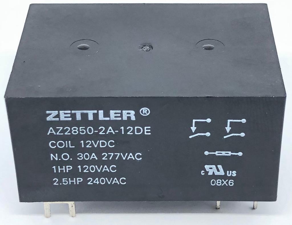 RELE AZ2850-2A-12DE 12VDC ZETTLER (AZ28502A12DE)