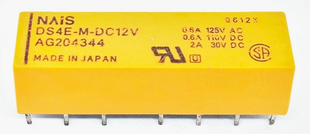 RELE DS4E-M-DC12V NAIS (DS4EMDC12V) (MATERIAL REFURBISHED)