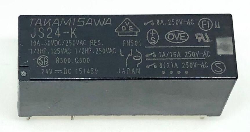 RELE JS24-K 24VDC FUJITSU_TAKAMISAWA (JS24K)