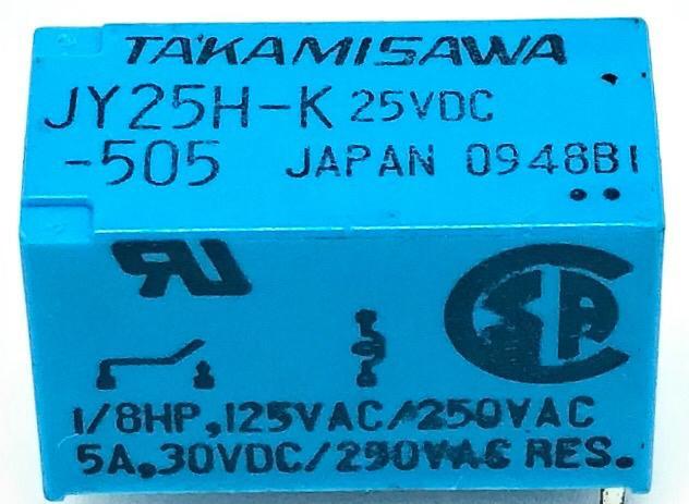 RELE JY25H-K 25VDC TAKAMISAWA (JY25HK)