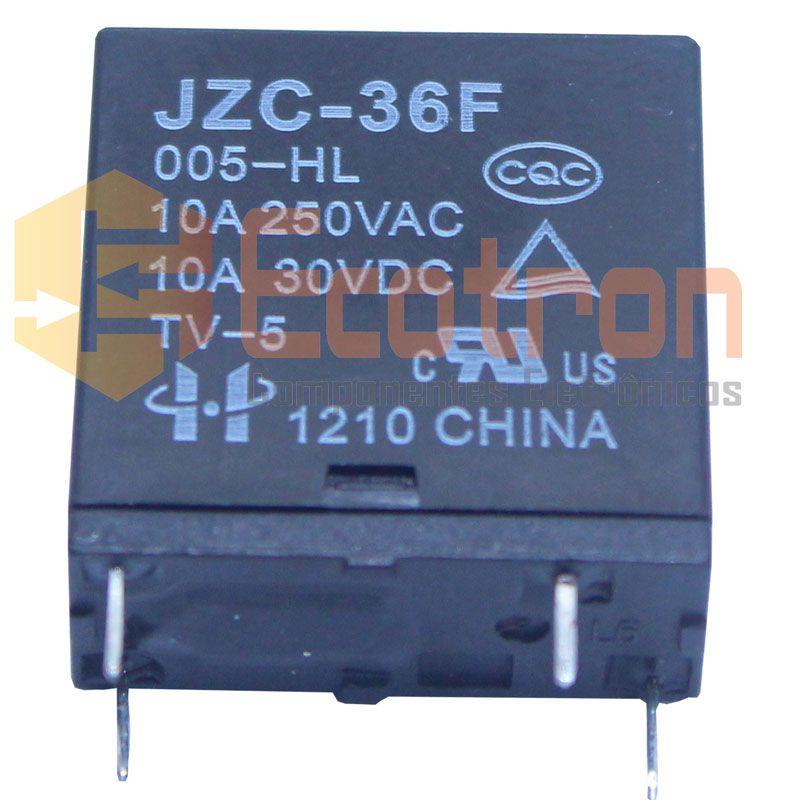 RELE JZC36F/005-HL 5VDC HONGFA RELAY