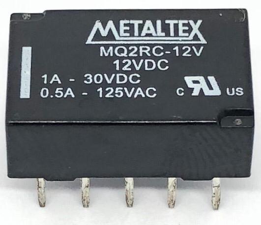 RELE MQ2RC-12V 12VDC METALTEX (MQ2RC12V)