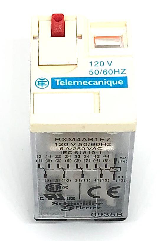 RELE RXM4AB1F7 120VCA SCHNEIDER_TELEMECANIQUE
