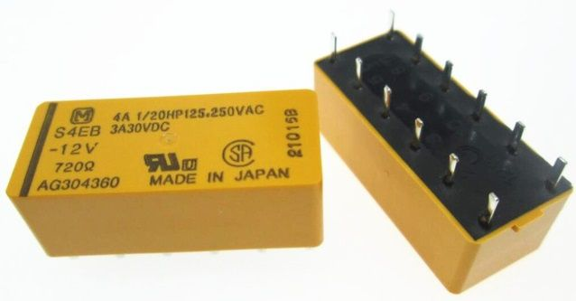 RELE S4EB-12V 12VDC NAIS PANASONIC (S4EB12V)