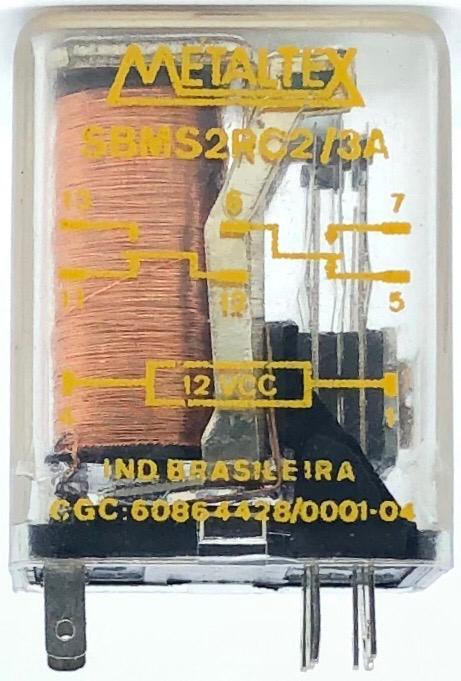 RELE SBMS2RC2/3A 12VDC METALTEX (SBMS2RC23A)