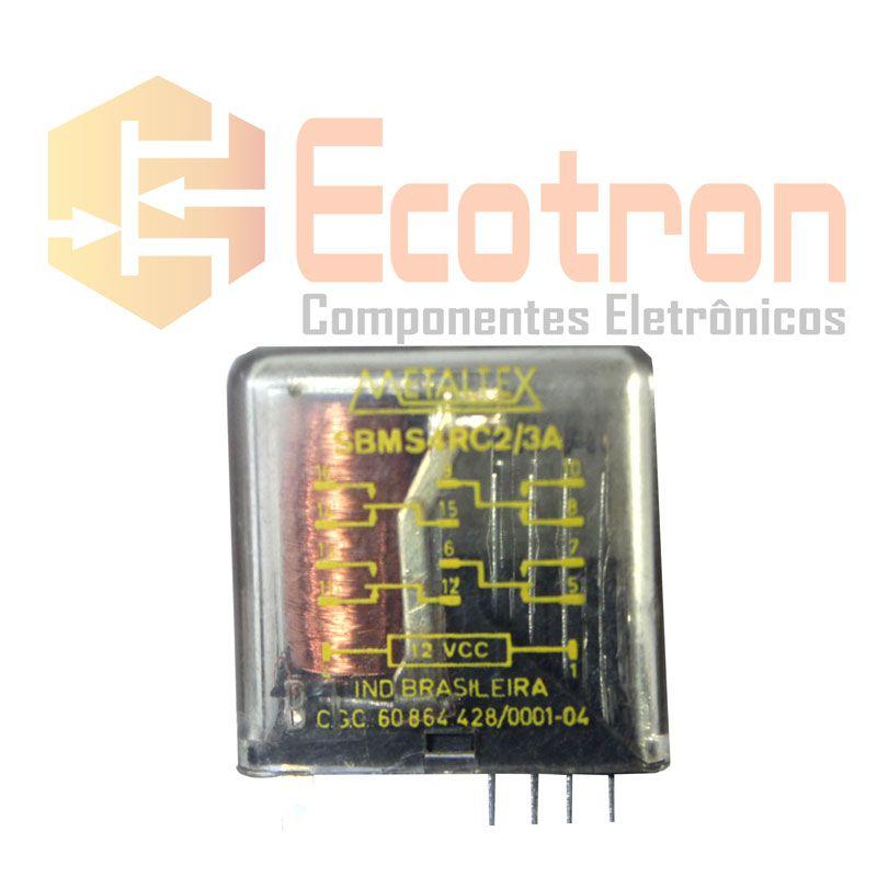 RELE SBMS4RC2/3A 12VDC METALTEX