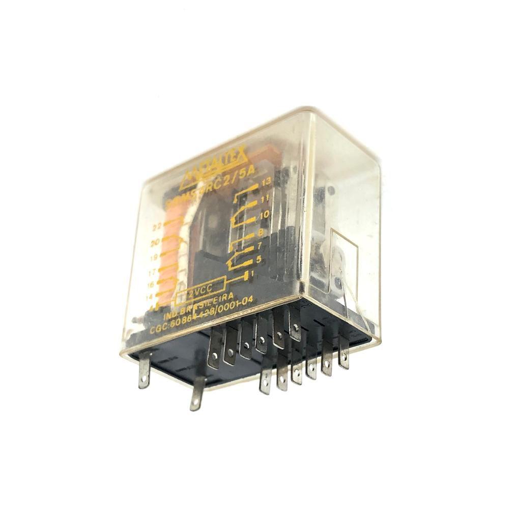 RELE SBMS4RC2/5A 12VDC METALTEX