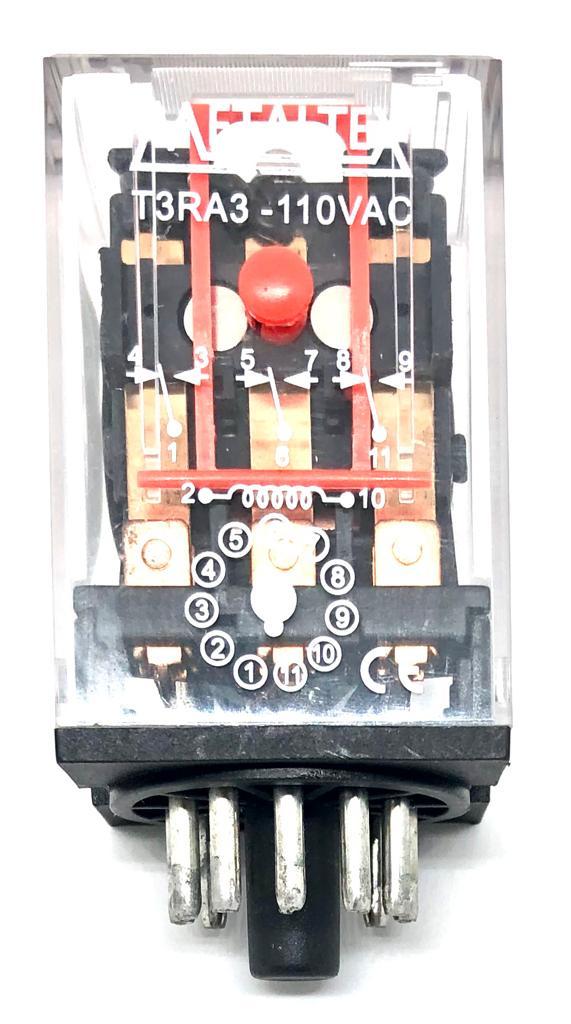 RELE T3RA3 110VAC METALTEX