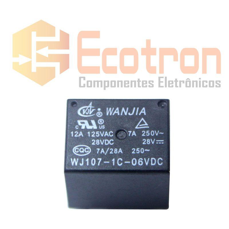 RELE WJ107-1C-6 6VDC WANJIA (WJ1071C6VDC)