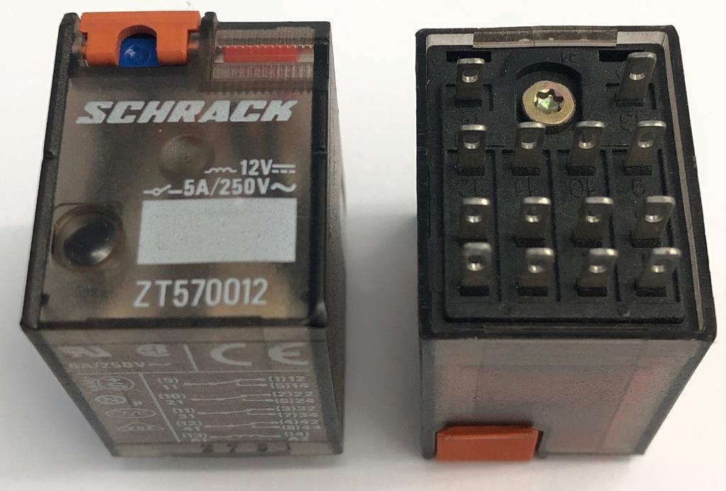 RELE ZT570.012 12VDC SCHRACK (ZT570012)