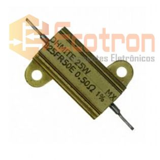 RESISTOR 0.5R 25W METALICO 825FR50E OHMITE