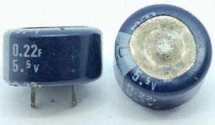 SUPERCAPACITOR 0,22F 5,5V RADIAL 12,3X7MM ELNA