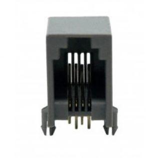 TOMADA JACK RJ11 4P4C 90º PCI TW259-44 PRETO TOWER