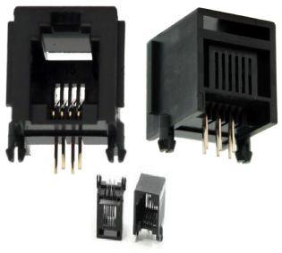 TOMADA JACK RJ11 6P4C PCI SOLDA PARA PLACA