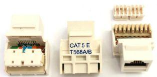 TOMADA KEYSTONE RJ45 CAT5E T568A/B CAT2079 70260 BRANCA TOWER
