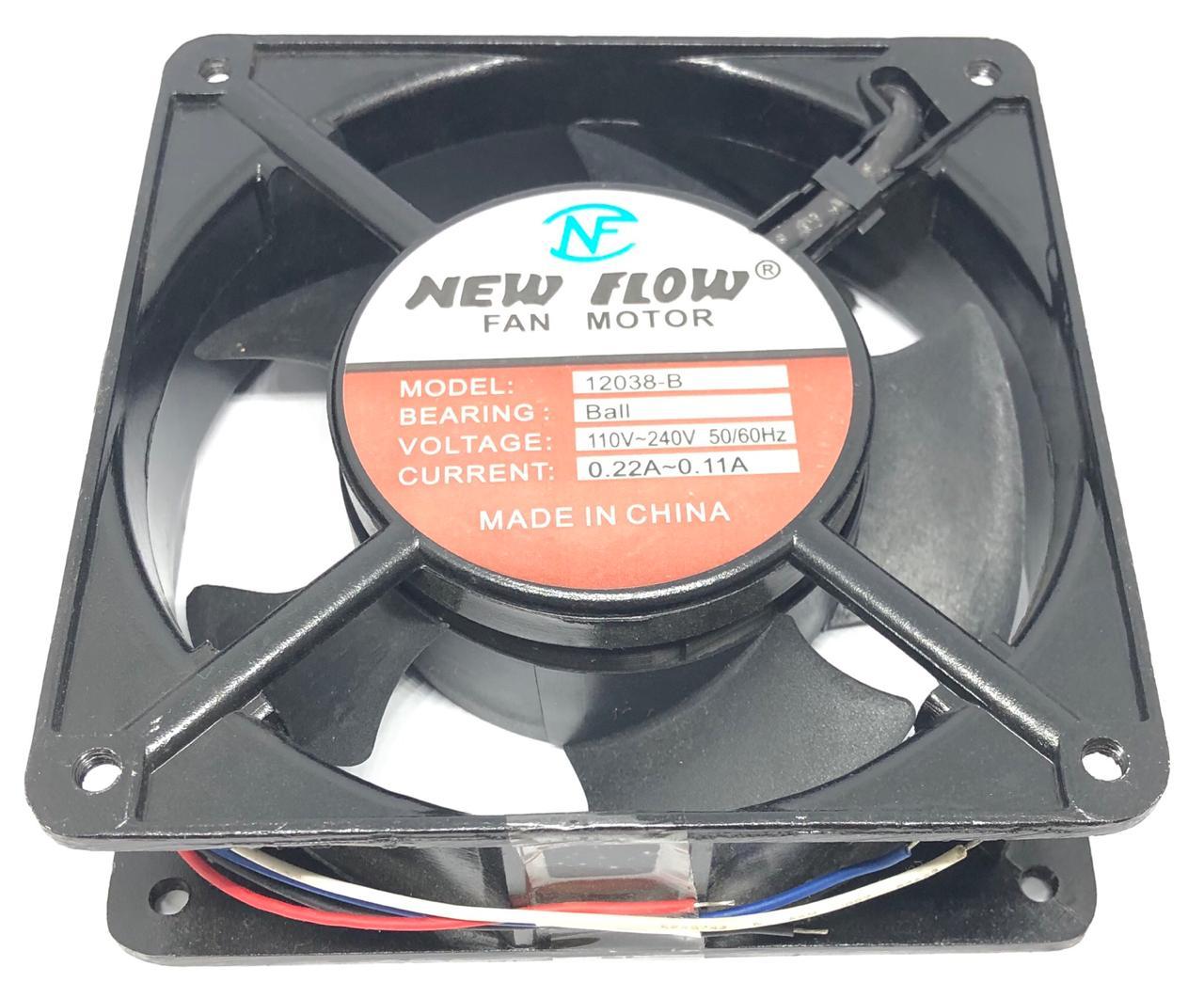 VENTILADOR FAN COOLER 12038-B 120X120X38MM BIVOLT NEW FLOW (NF12038B)