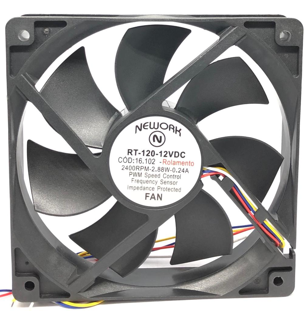 VENTILADOR FAN COOLER 120X120X25MM RT-120 12VDC 16.102 NEWORK (RT120 16102)