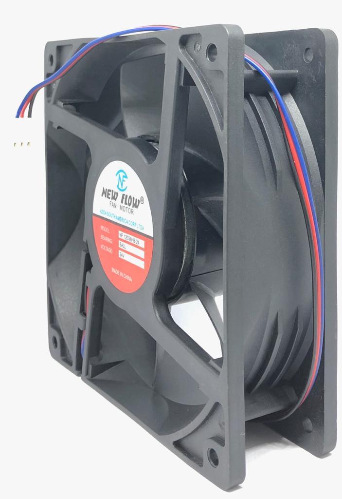 VENTILADOR FAN COOLER 120X120X38MM NF-12038HB-24 24VDC NEW FLOW (NF12038HB24)