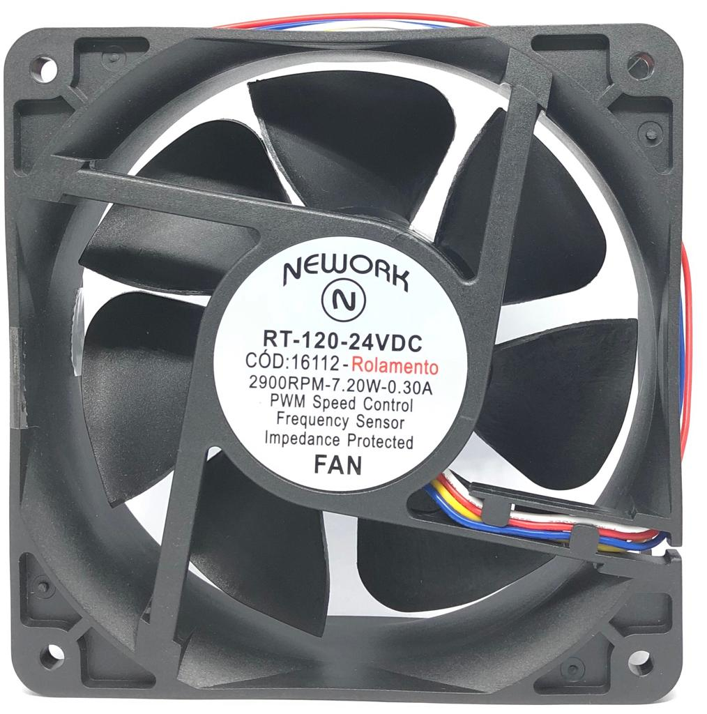 VENTILADOR FAN COOLER 120X120X38MM RT-120 24VDC 16.112 NEWORK (RT120 16112)