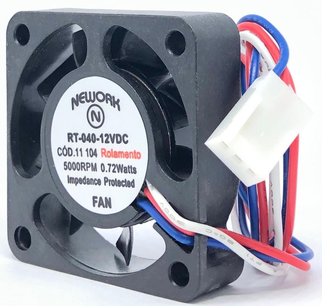 VENTILADOR FAN COOLER 40X40X10MM RT-040 12VDC 11.104 NEWORK (RT040 11104)
