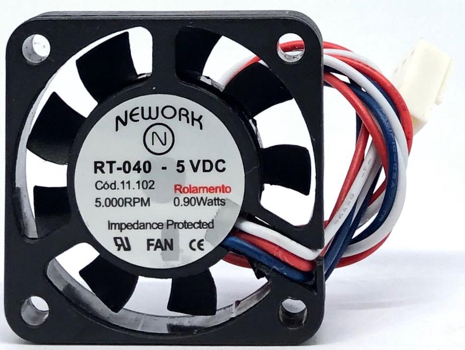 VENTILADOR FAN COOLER 40X40X10MM RT-040 5VDC 11.102 NEWORK (RT040 11102)