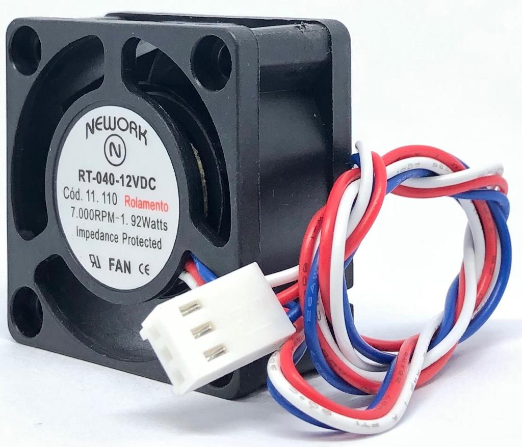VENTILADOR FAN COOLER 40X40X20MM RT-040 12VDC 11.110 NEWORK (RT040 11110)