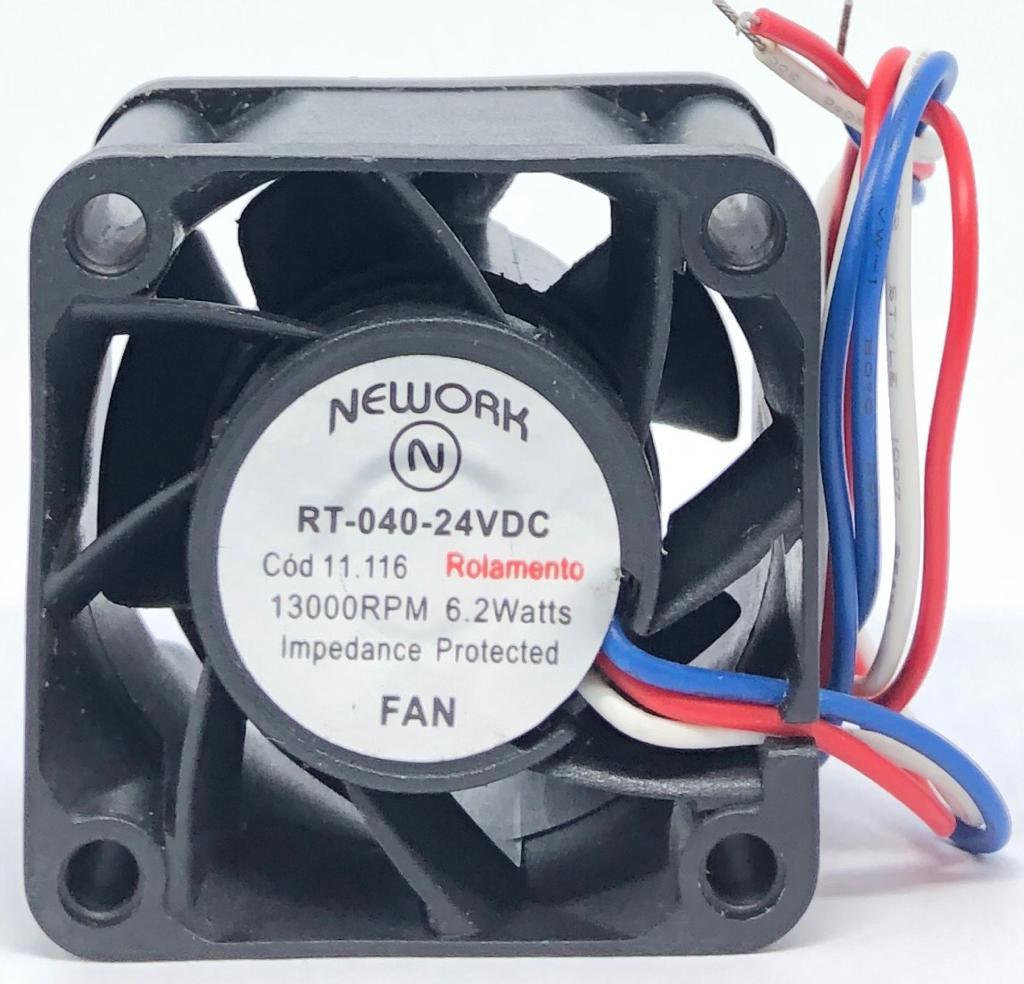VENTILADOR FAN COOLER 40X40X28MM RT-040 24VDC 11.116 NEWORK (RT040 11116)