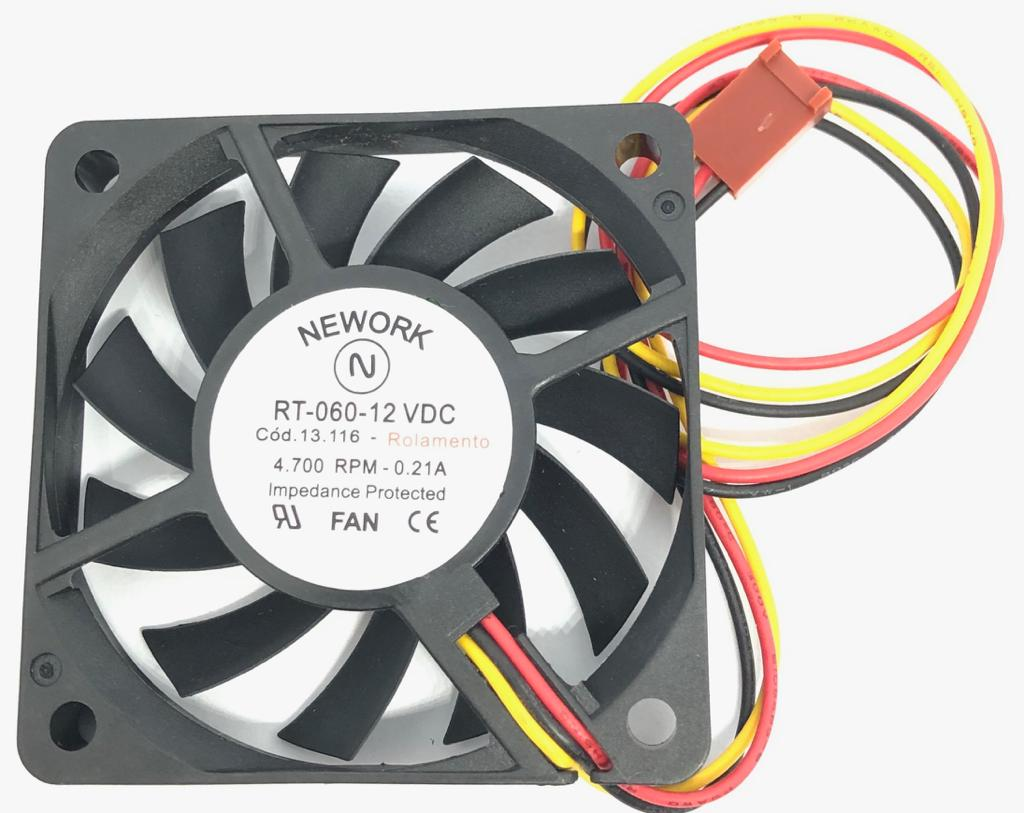 VENTILADOR FAN COOLER 60X60X10MM RT-060 12VDC 13.116 NEWORK (RT060 13116)