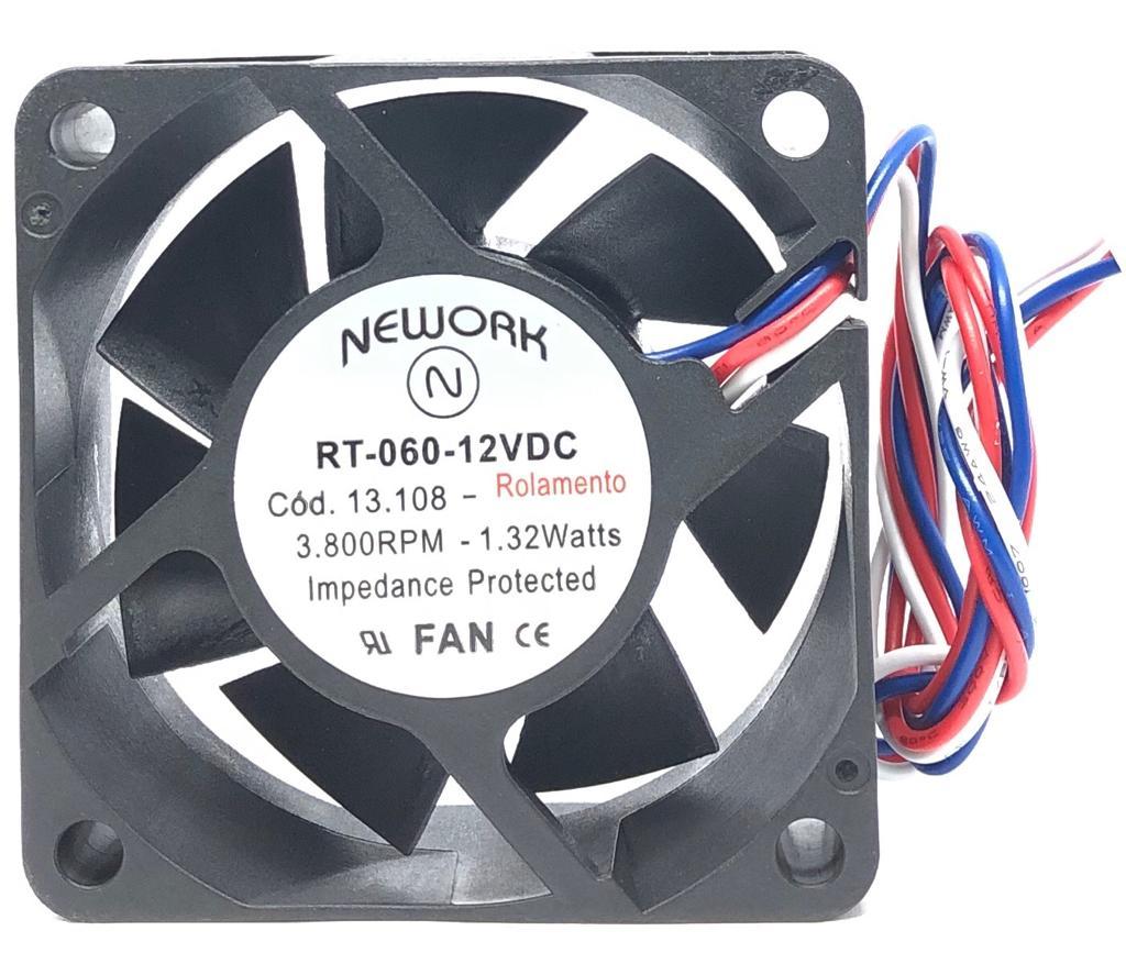 VENTILADOR FAN COOLER 60X60X25MM RT-060 12VDC 13.108 NEWORK (RT060 13108)