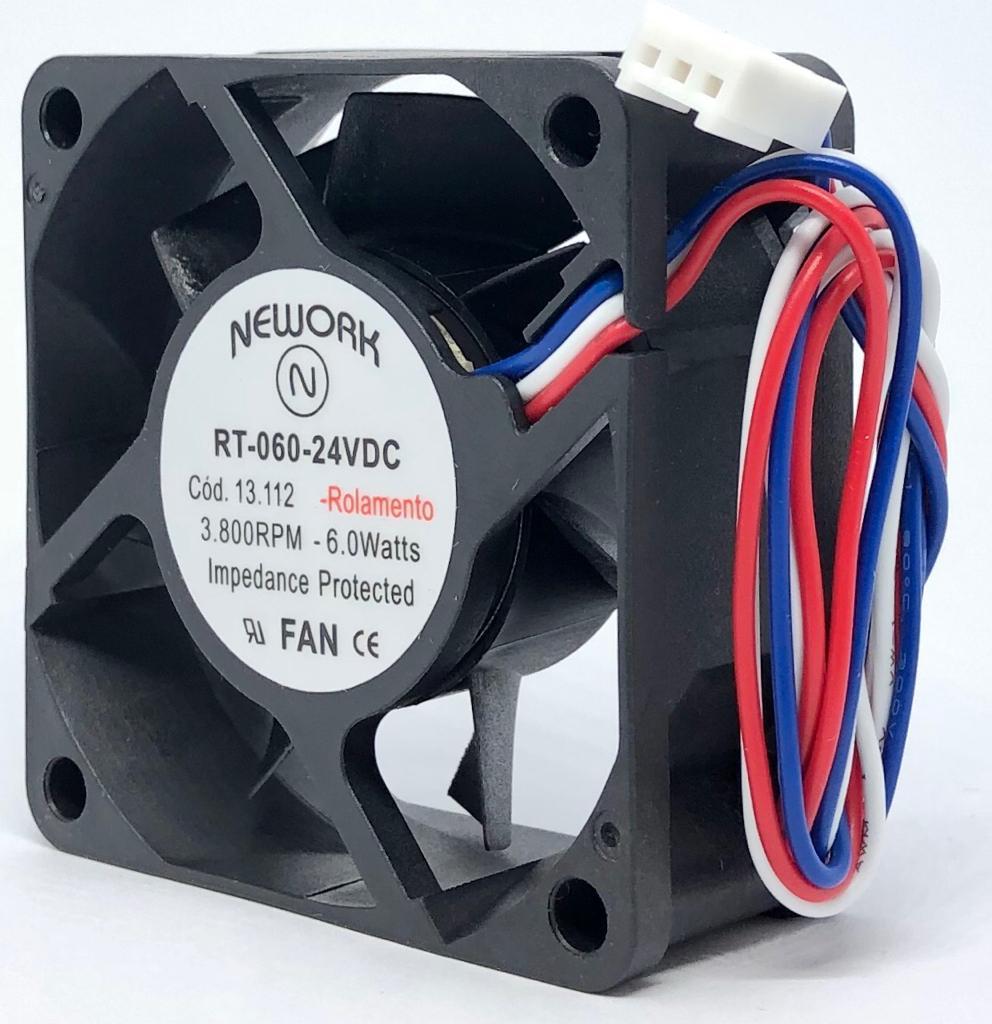 VENTILADOR FAN COOLER 60X60X25MM RT-060 24VDC 13.112 NEWORK (RT060 13112)