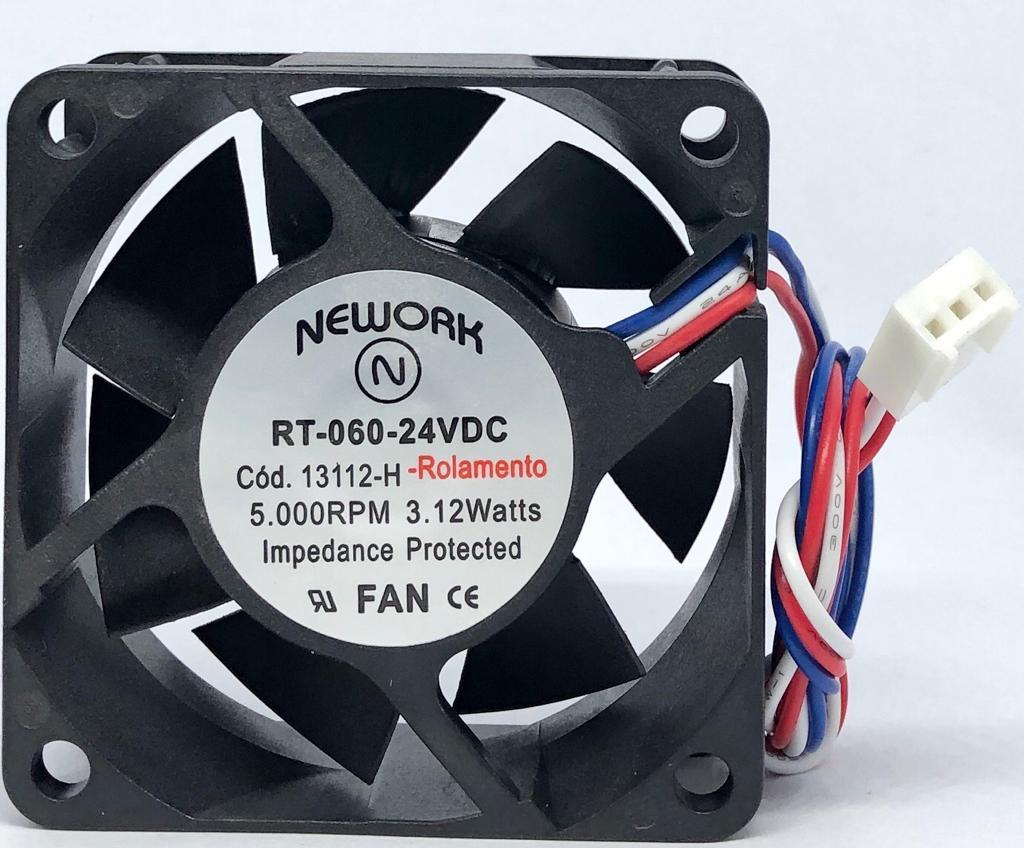 VENTILADOR FAN COOLER 60X60X25MM RT-060 24VDC 13.112H NEWORK (RT060 13112H)