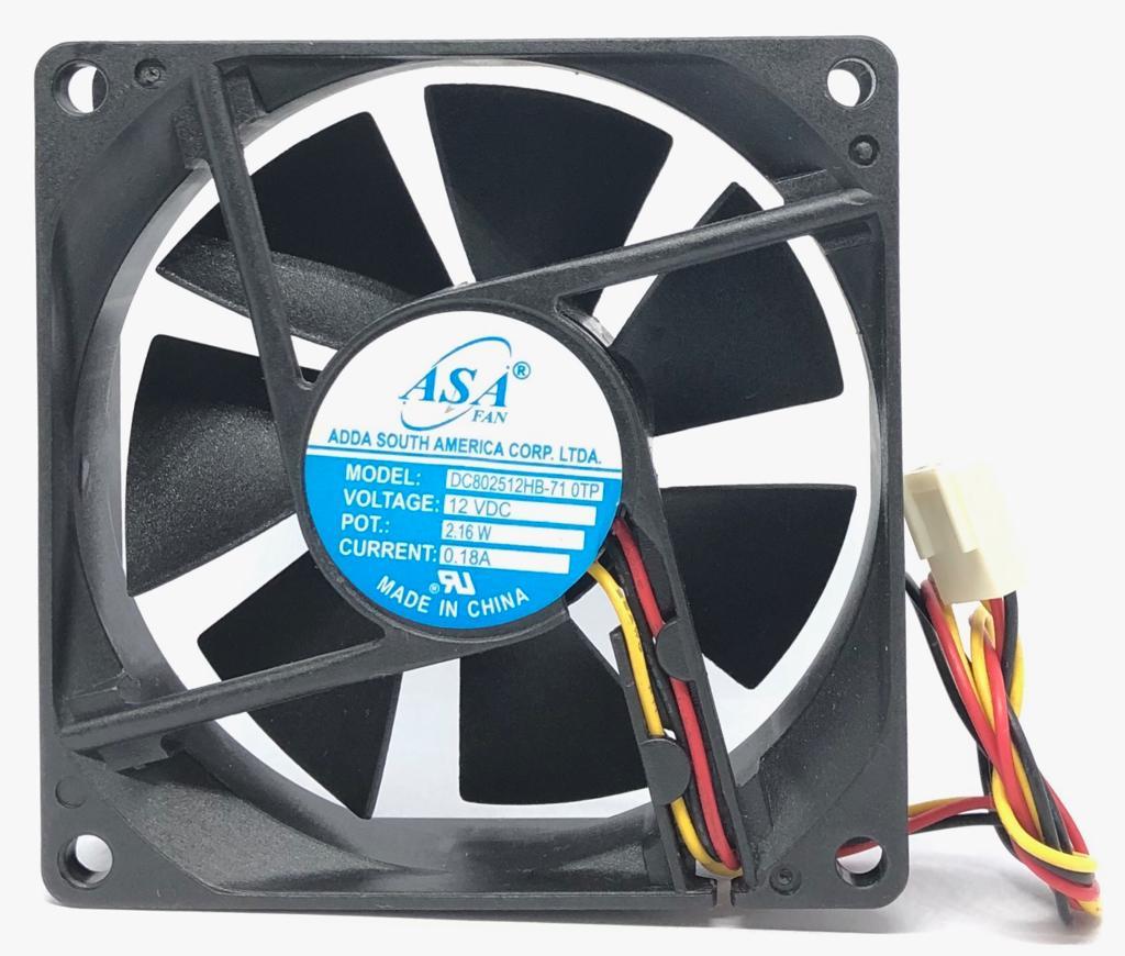 VENTILADOR FAN COOLER 80X80X25MM DC802512HB-71 12VDC ADDA (DC802512HB71)